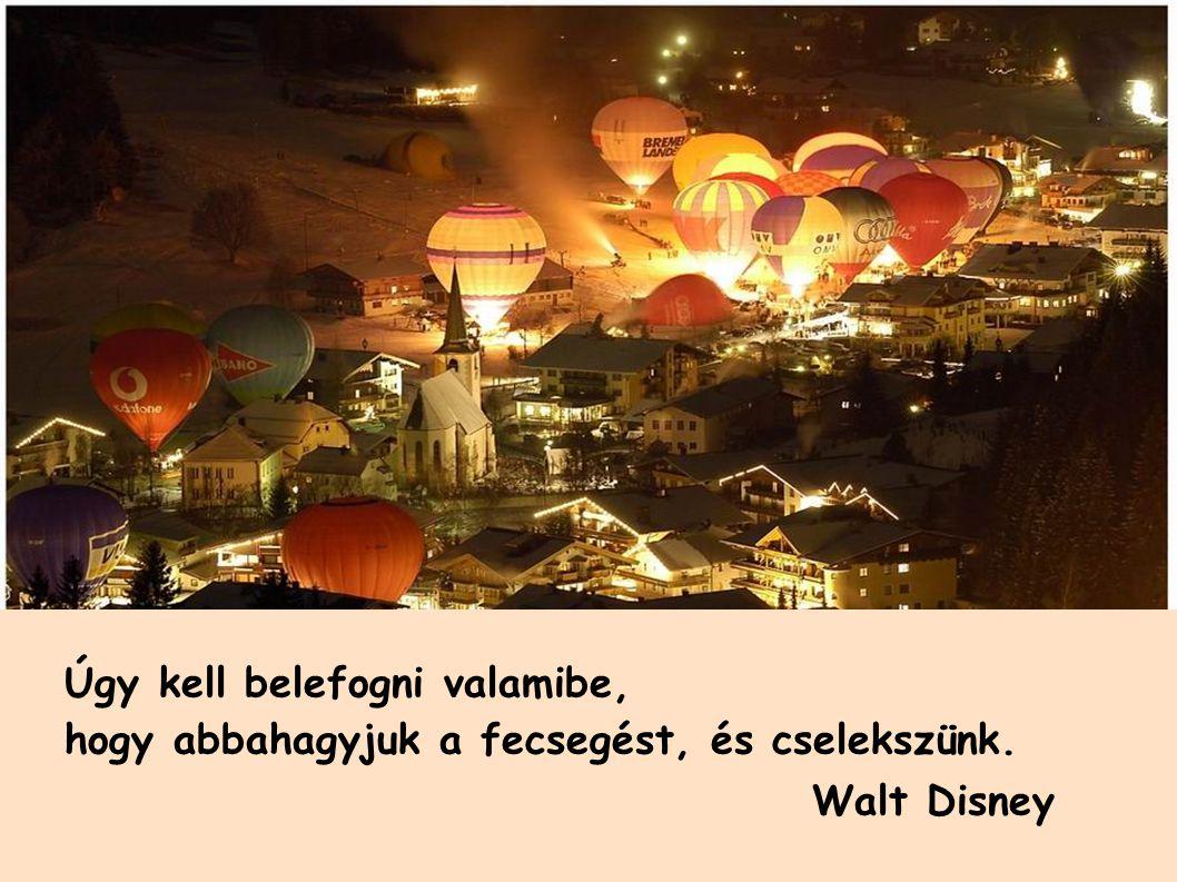 Úgy kell belefogni valamibe, hogy abbahagyjuk a fecsegést, és cselekszünk. Walt Disney.