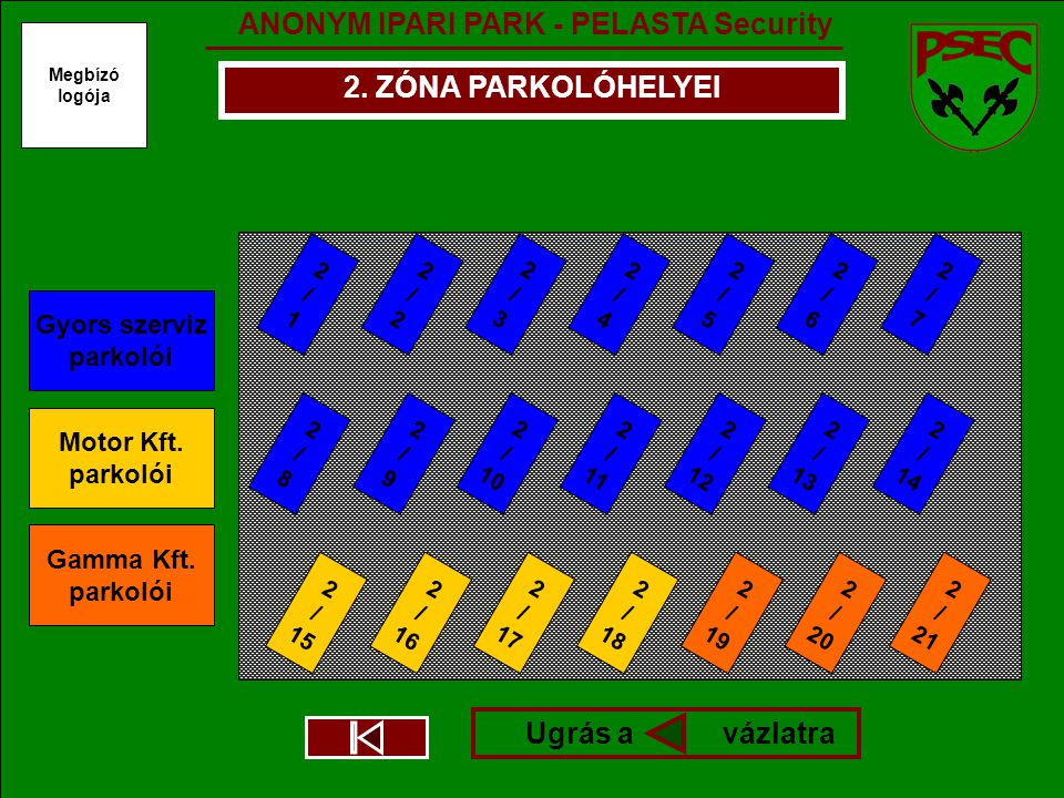 ANONYM IPARI PARK - PELASTA Security Megbízó logója 2.