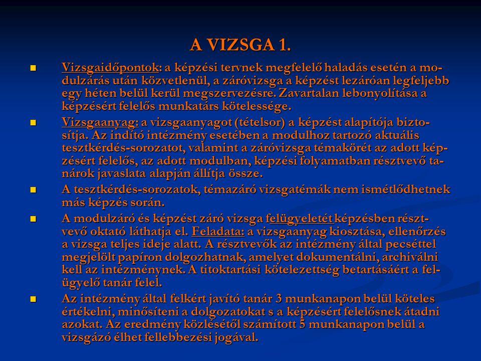 A VIZSGA 1.