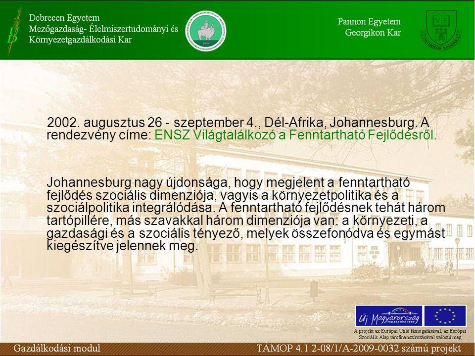 2002. augusztus 26 - szeptember 4., Dél-Afrika, Johannesburg.