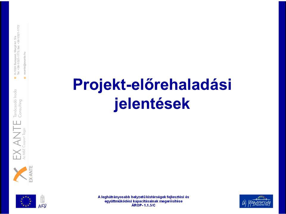 Projekt-előrehaladási jelentések