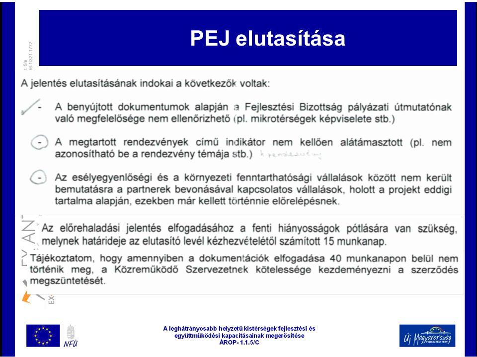 PEJ elutasítása