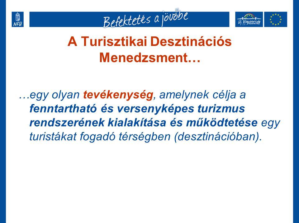 A desztináció… …A desztináció a komplex turisztikai terméket felkínálni képes térség egésze, a kínálat helyszíne.