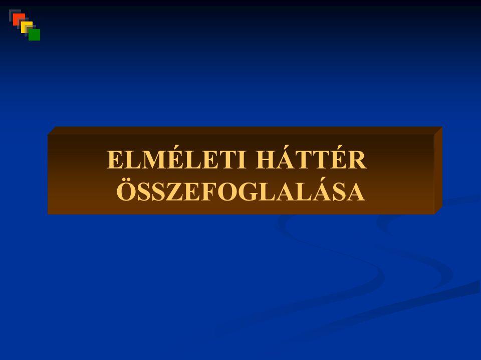 ELMÉLETI HÁTTÉR ÖSSZEFOGLALÁSA