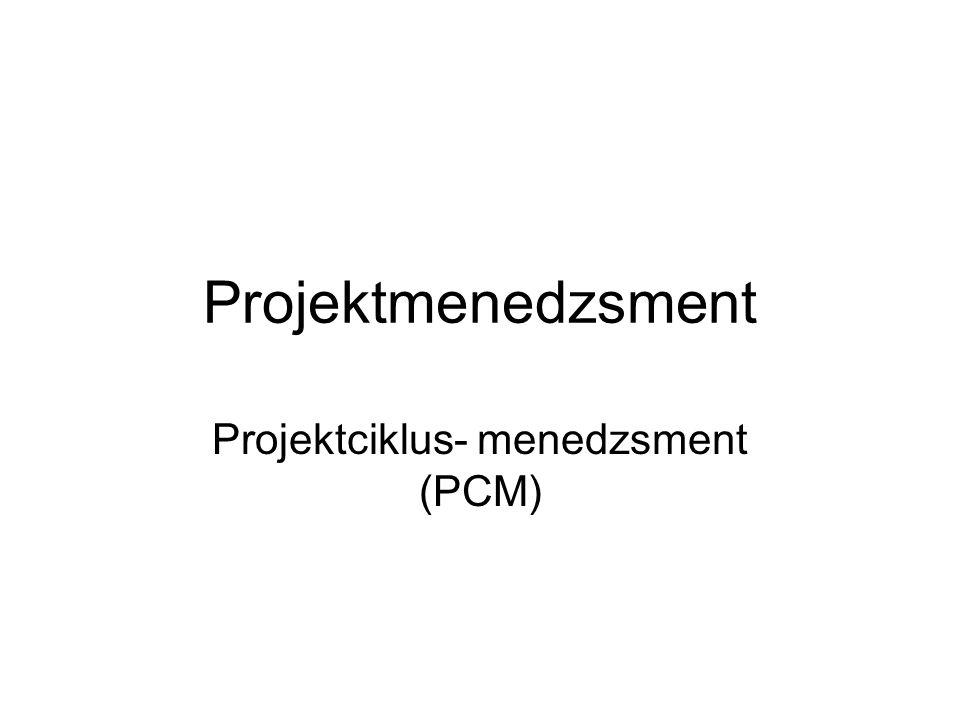 Projektmenedzsment Projektciklus- menedzsment (PCM)
