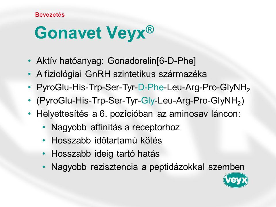 •Aktív hatóanyag: Gonadorelin[6-D-Phe] •A fiziológiai GnRH szintetikus származéka •PyroGlu-His-Trp-Ser-Tyr-D-Phe-Leu-Arg-Pro-GlyNH 2 •(PyroGlu-His-Trp