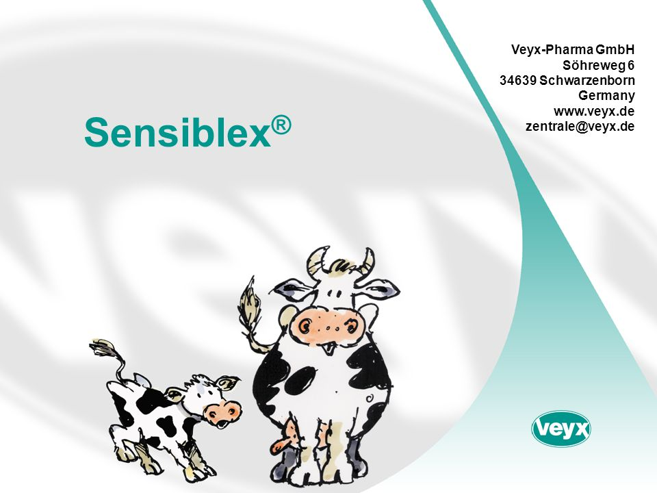 Sensiblex ® Veyx-Pharma GmbH Söhreweg 6 34639 Schwarzenborn Germany www.veyx.de zentrale@veyx.de