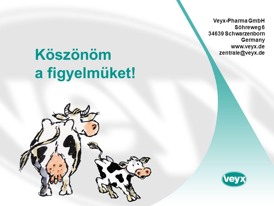 Köszönöm a figyelmüket! Veyx-Pharma GmbH Söhreweg 6 34639 Schwarzenborn Germany www.veyx.de zentrale@veyx.de