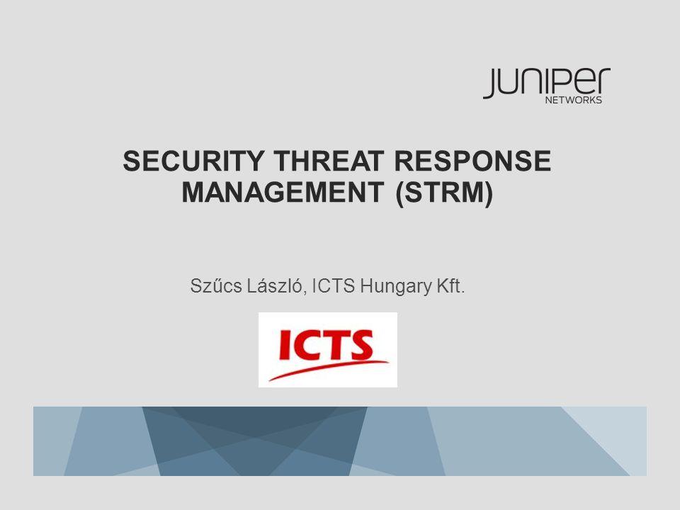 SECURITY THREAT RESPONSE MANAGEMENT (STRM) Szűcs László, ICTS Hungary Kft.