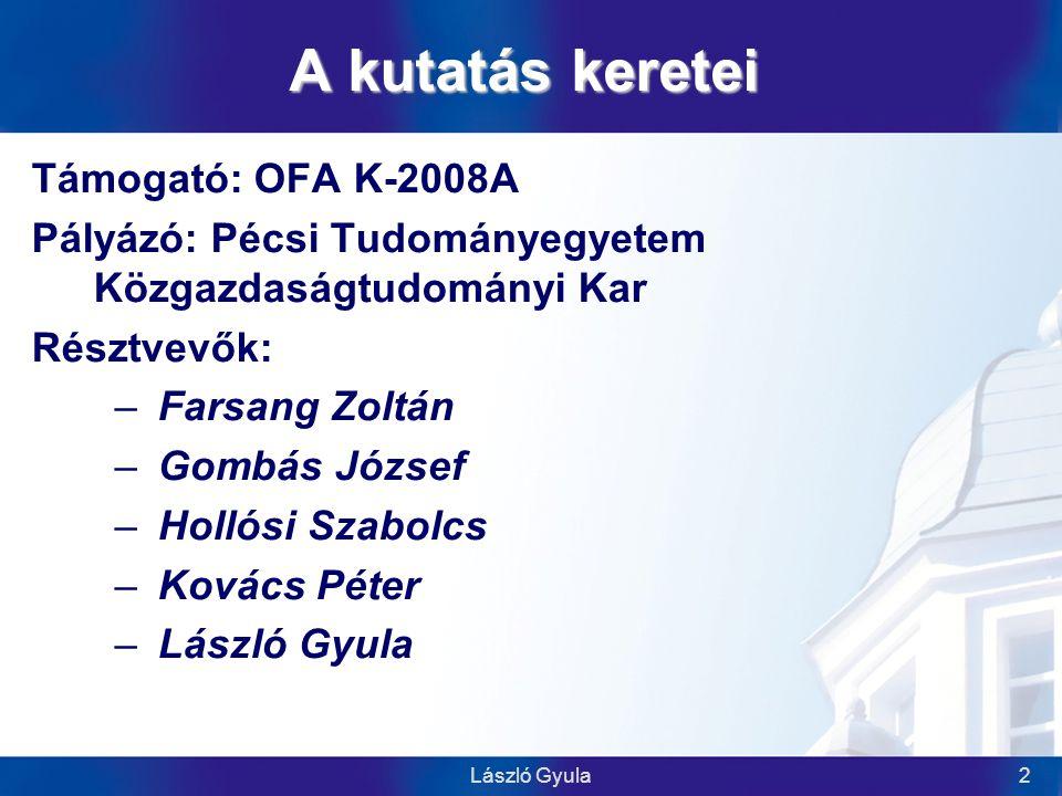 László Gyula23 Mitől sikeres egy hazai paktum  közös érdek, közösen alakított értékrend és szemléletmód  részvétel, aktivitás (mindenki ad, és kap is)  személyes kapcsolatok, partnerség-szemlélet  proaktív, kezdeményező menedzsment és elkötelezett támogató partner-szervezetek  aktuális kérdések, a partnerek érdeklődésének (és érdekérvényesítésének) fenntartása  kommunikáció: nyilvánosság, honlap, hírlevél, sajtó, társadalmi kapcsolatok  a fenntarthatóság biztosítása