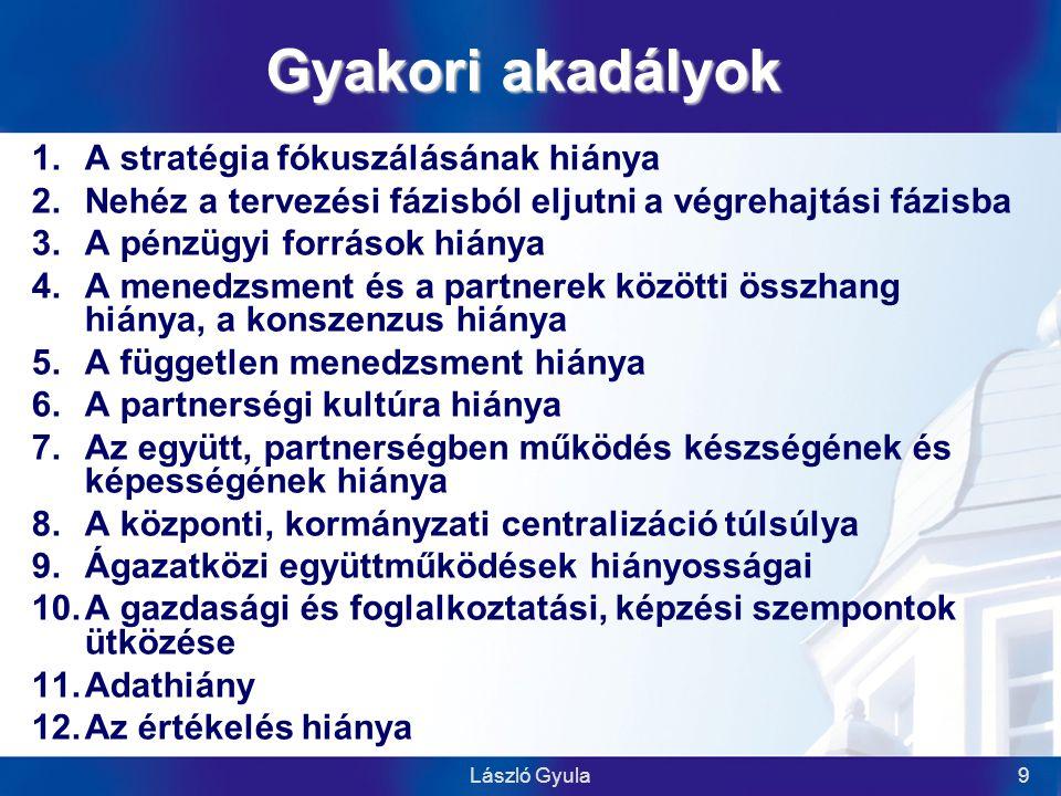 """László Gyula30 """"… nincs alternatíva… Köszönöm a figyelmet! laszlo@ktk.pte.hu"""