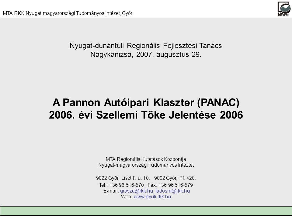 A Pannon Autóipari Klaszter (PANAC) 2006.