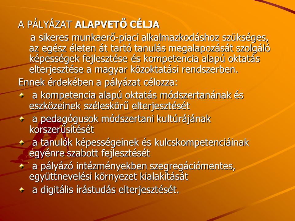 A PÁLYÁZAT TARTALMA 1.