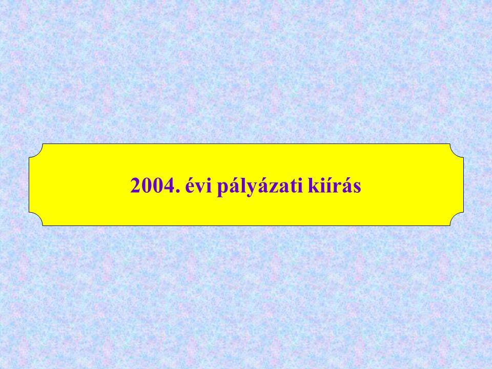 2004. évi pályázati kiírás