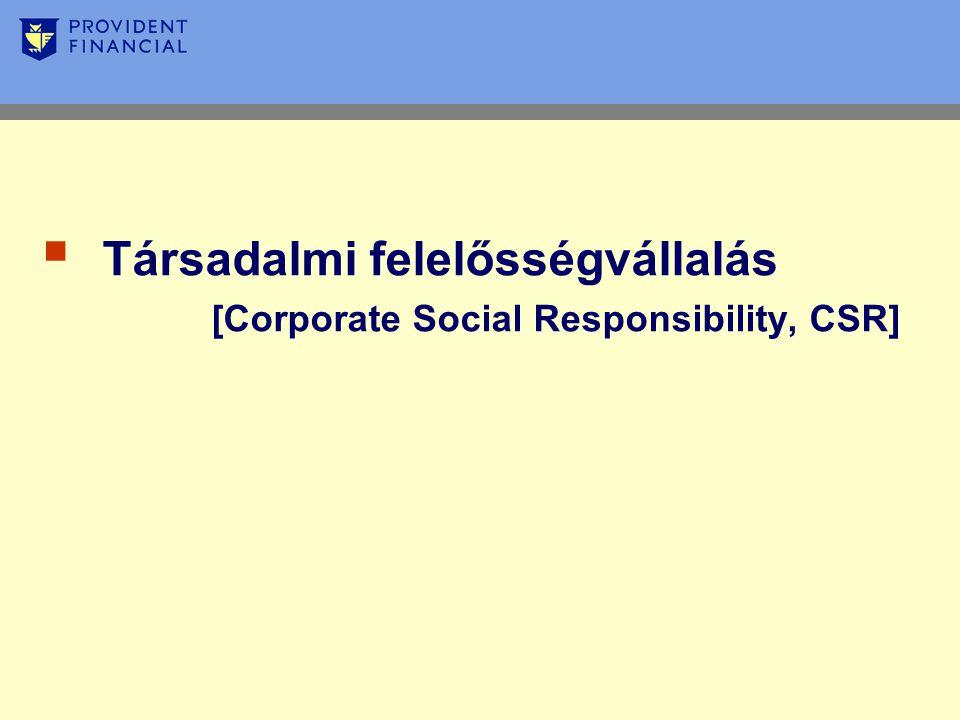  Társadalmi felelősségvállalás [Corporate Social Responsibility, CSR]