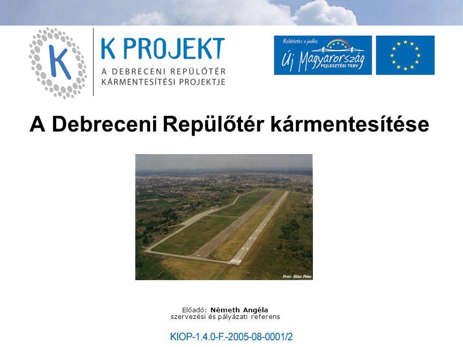 A Debreceni Repülőtér kármentesítése Előadó: Németh Angéla szervezési és pályázati referens