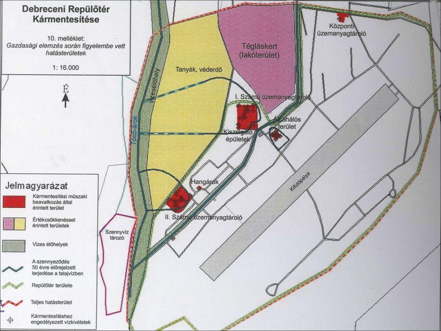 A Debreceni Repülőtér területén a földtani közeg és a felszín alatti víz kármentesítése •Prioritás: Környezetvédelem és Infrastruktúra Operatív Program (KIOP) •Támogatás összege: 817.949.140 Ft, 100%-os támogatás •Támogató: Nemzeti fejlesztési Ügynökség KIOP Irányító Hatósága •Kedvezményezett: Debrecen Megyei Jogú Város Önkormányzata