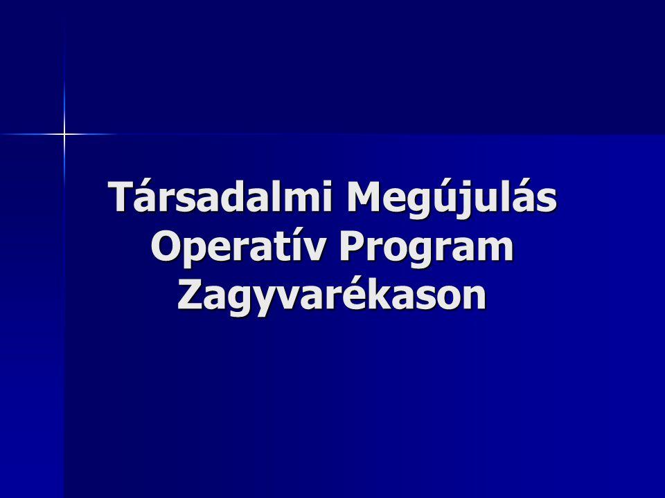 Társadalmi Megújulás Operatív Program Zagyvarékason