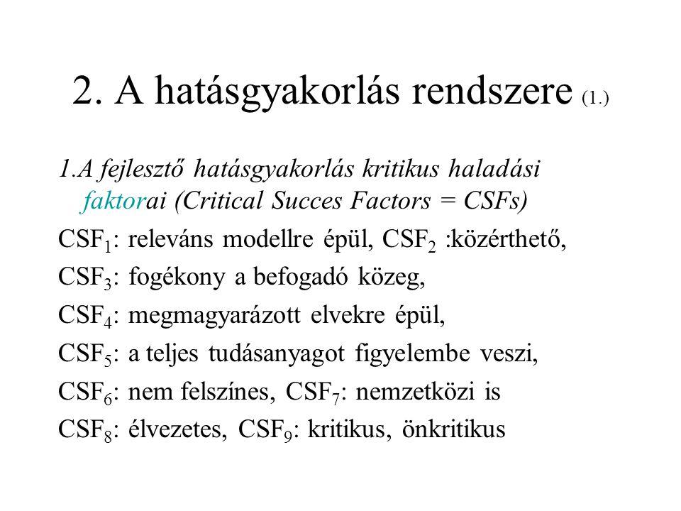 2.A hatásgyakorlás rendszere (2.) 2.