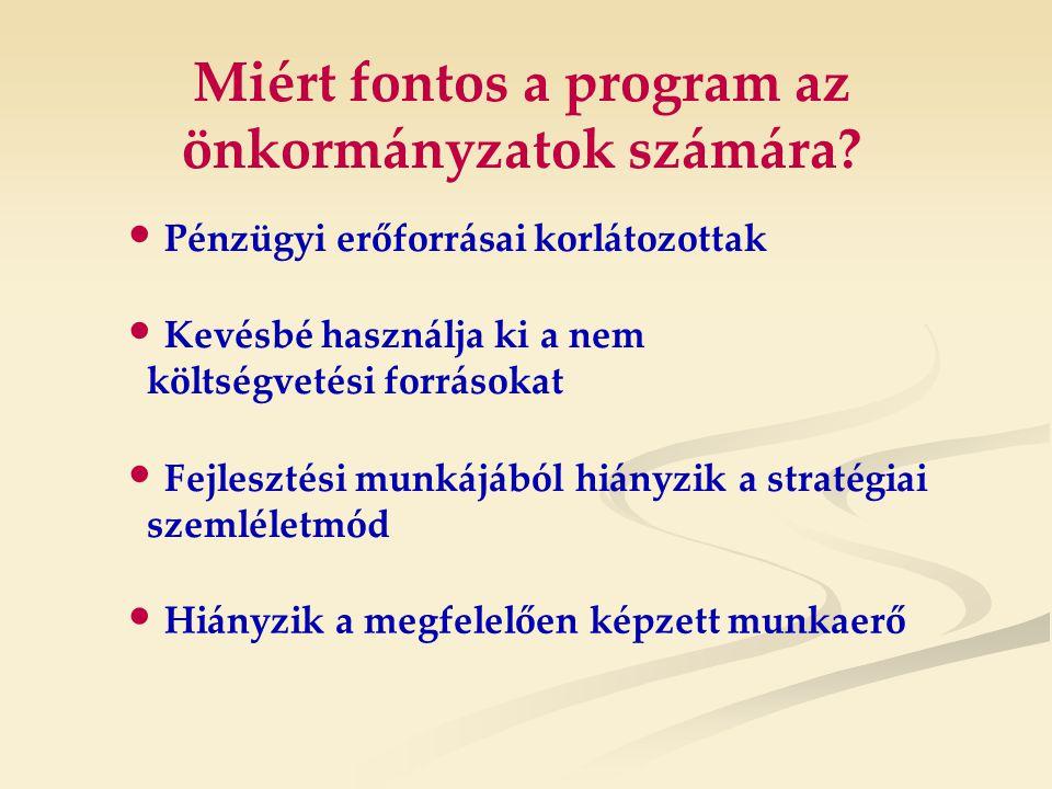 Miért fontos a program az önkormányzatok számára.