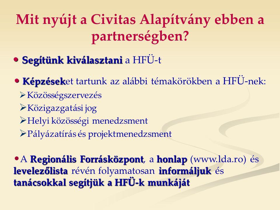 Mit nyújt a Civitas Alapítvány ebben a partnerségben.