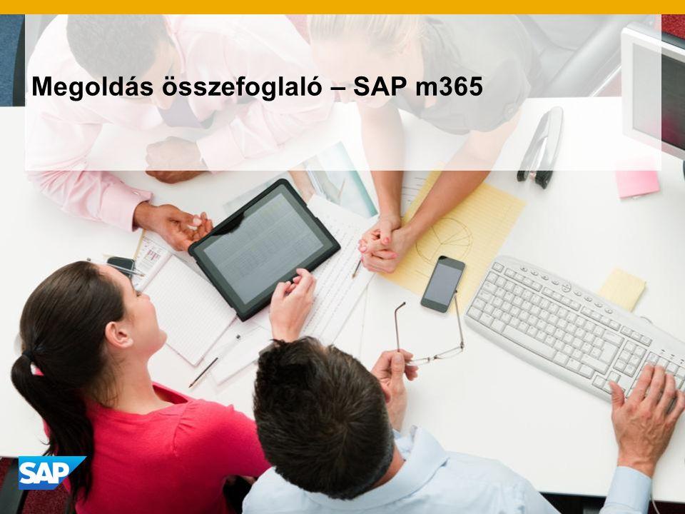 Megoldás összefoglaló – SAP m365
