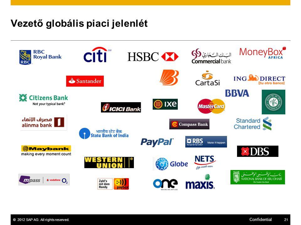 ©2012 SAP AG. All rights reserved.21 Confidential Vezető globális piaci jelenlét