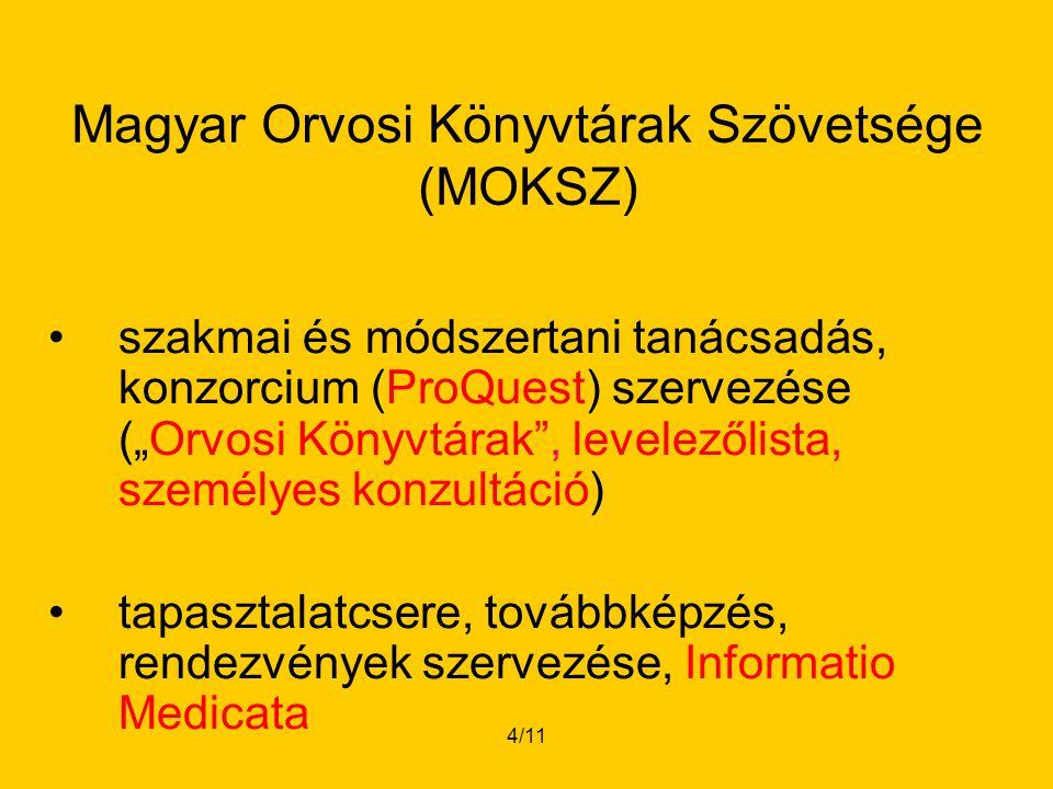 5/11 Dr.Palotai Mária ESKI Budapest 22 kórházi könyvtár Szikszai Márta Szt.