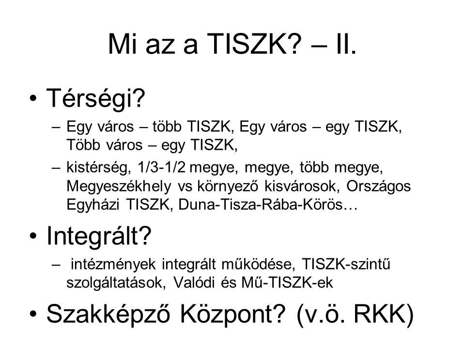 Mi az a TISZK. – II. •Térségi.
