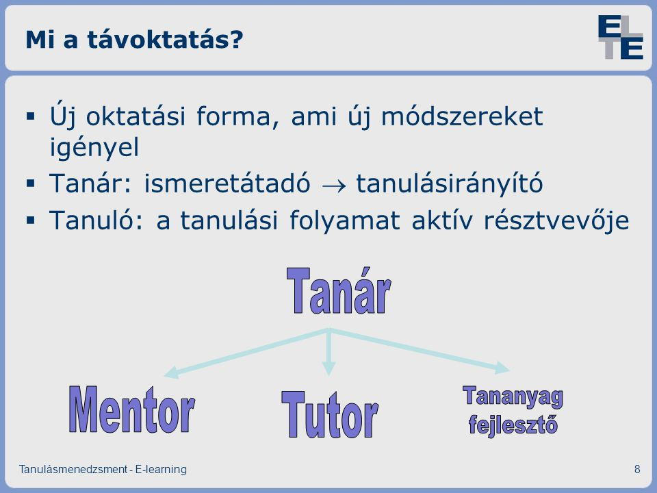 Mi az e-learning.