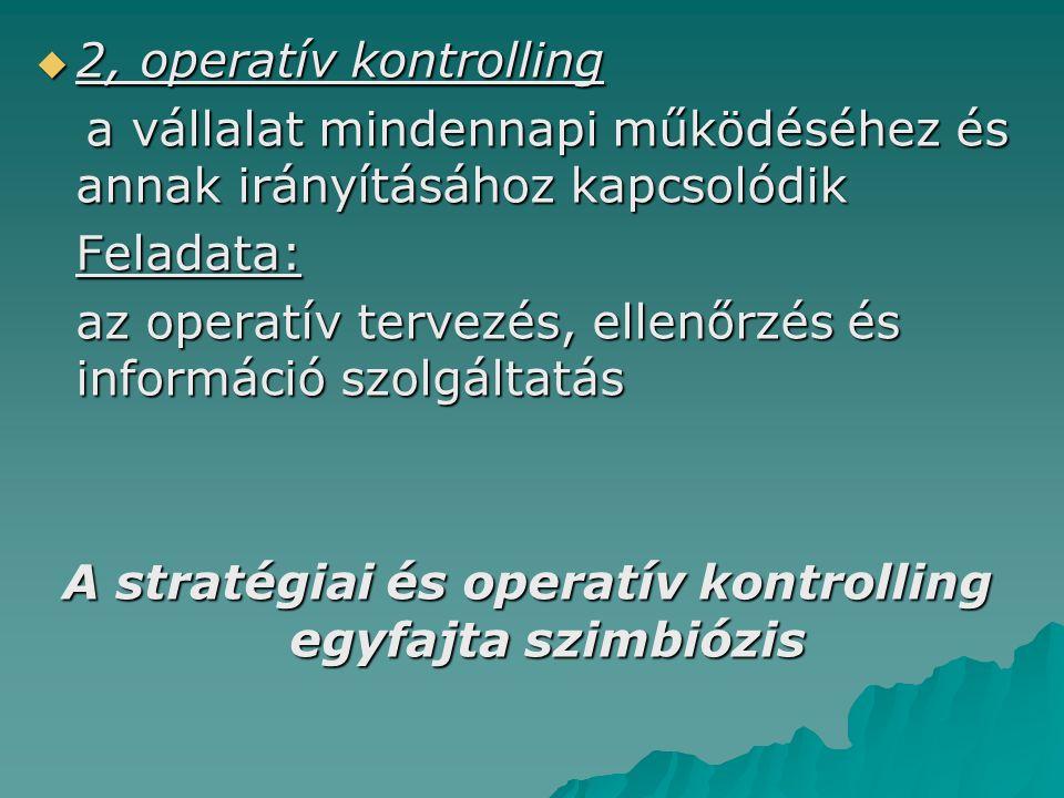  2, operatív kontrolling a vállalat mindennapi működéséhez és annak irányításához kapcsolódik a vállalat mindennapi működéséhez és annak irányításáho