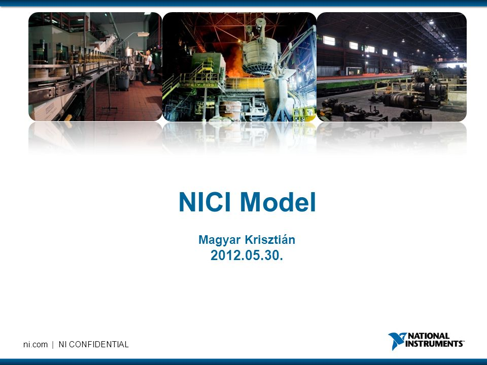 ni.com | NI CONFIDENTIAL NICI Model Magyar Krisztián 2012.05.30.