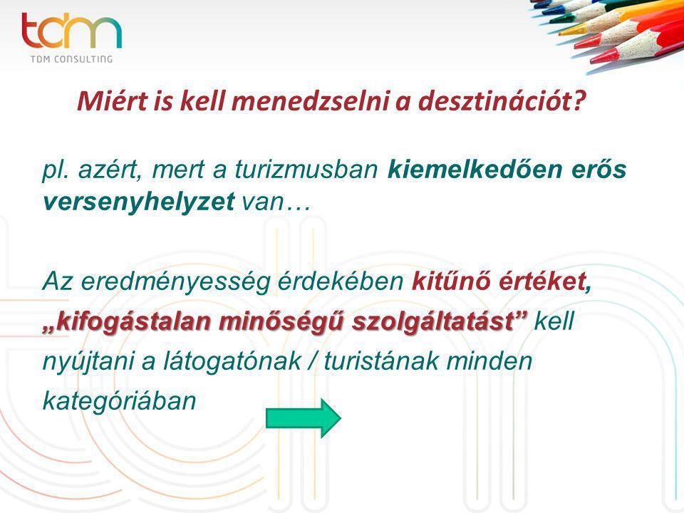 Miért is kell menedzselni a desztinációt. pl.
