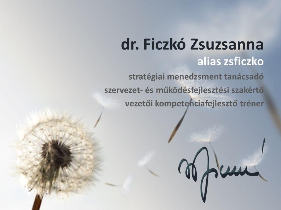 dr. Ficzkó Zsuzsanna alias zsficzko stratégiai menedzsment tanácsadó szervezet- és működésfejlesztési szakértő vezetői kompetenciafejlesztő tréner