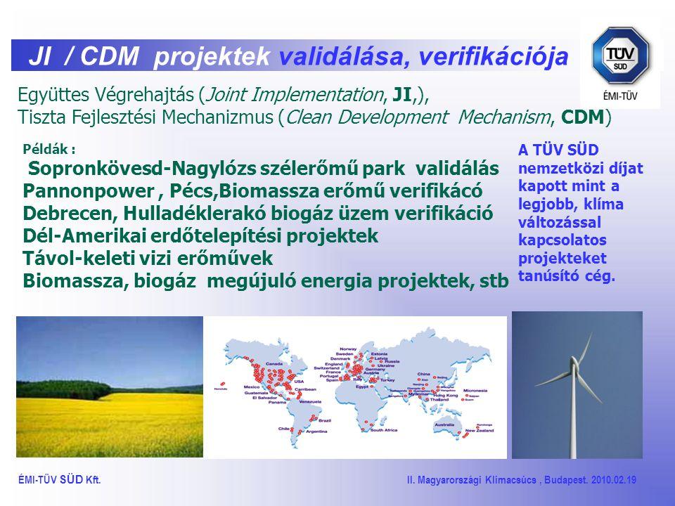 EU ETS CO2 kibocsátás hitelesítés ÉMI-TÜV SÜD Kft.
