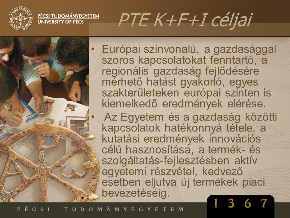 •Európai színvonalú, a gazdasággal szoros kapcsolatokat fenntartó, a regionális gazdaság fejlődésére mérhető hatást gyakorló, egyes szakterületeken eu