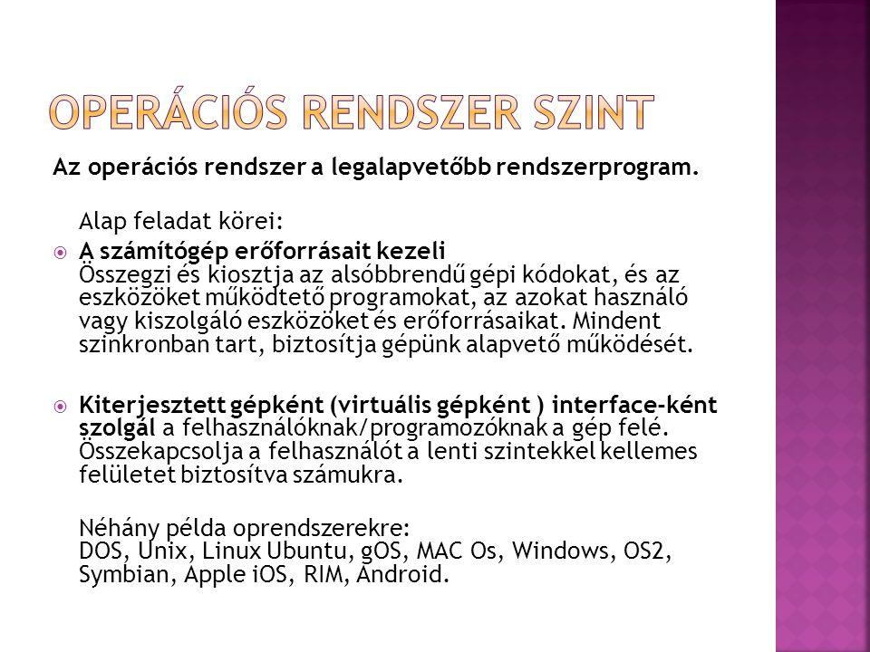Az operációs rendszer a legalapvetőbb rendszerprogram.