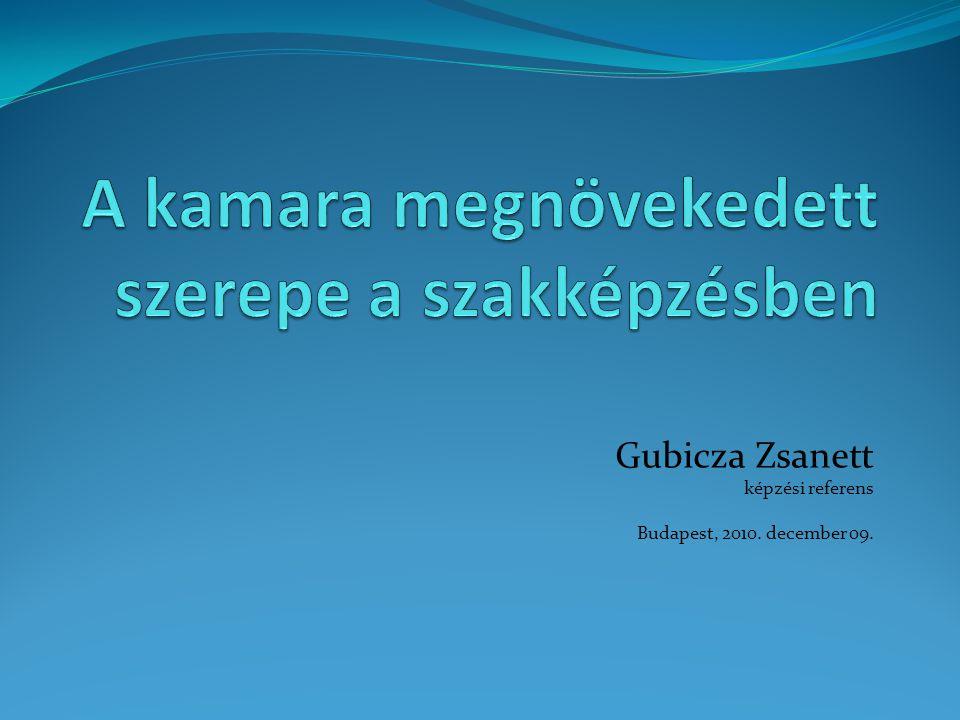Gubicza Zsanett képzési referens Budapest, 2010. december 09.