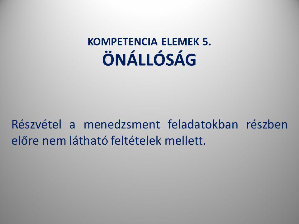 KOMPETENCIA ELEMEK 5.