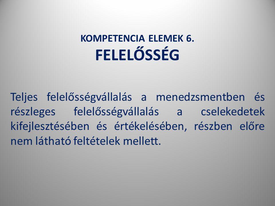 KOMPETENCIA ELEMEK 6.