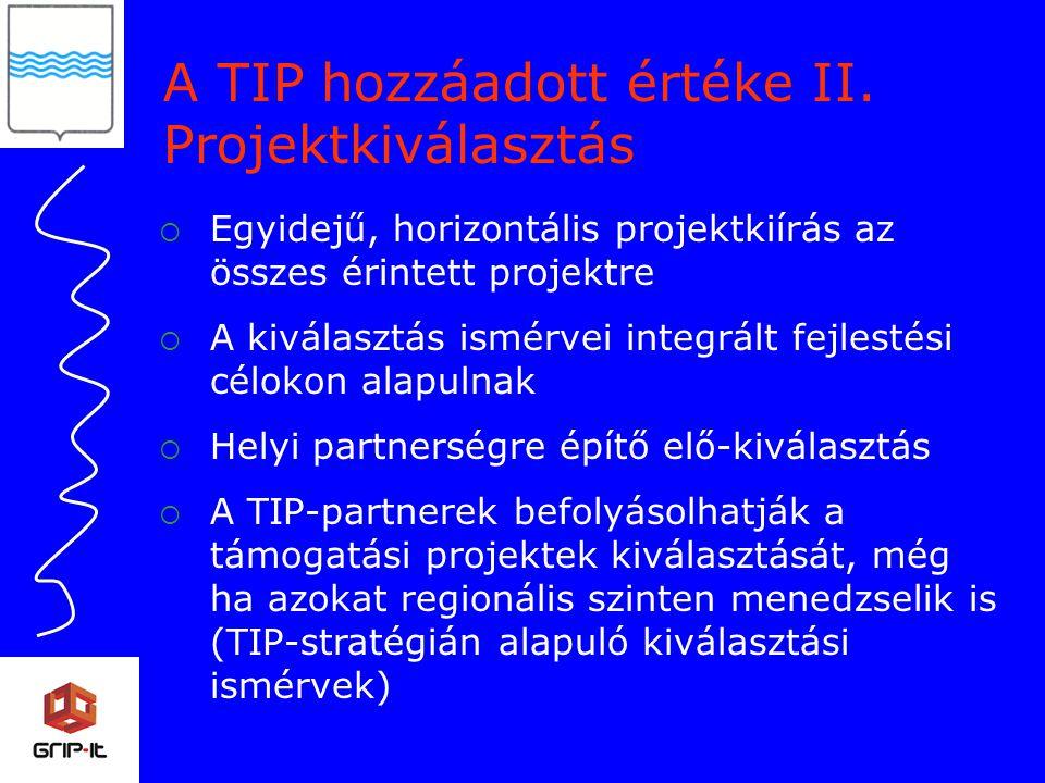A TIP hozzáadott értéke II.