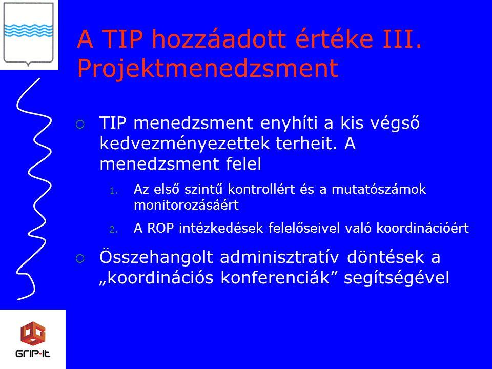 A TIP hozzáadott értéke III.