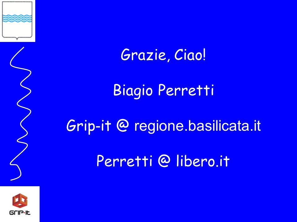 Grazie, Ciao! Biagio Perretti Grip - it @ regione.basilicata.it Perretti @ libero.it