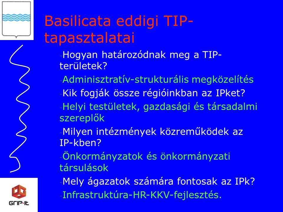 - Hogyan határozódnak meg a TIP- területek.
