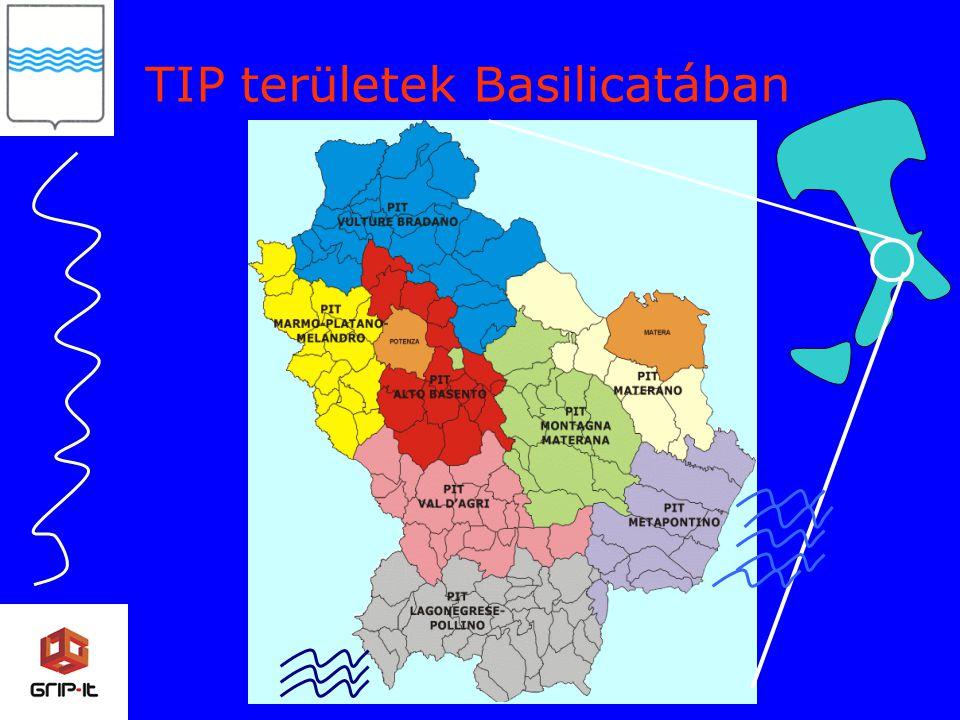TIP területek Basilicatában