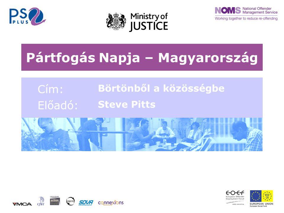 Pártfogás Napja – Magyarország Cím: Börtönből a közösségbe Előadó: Steve Pitts