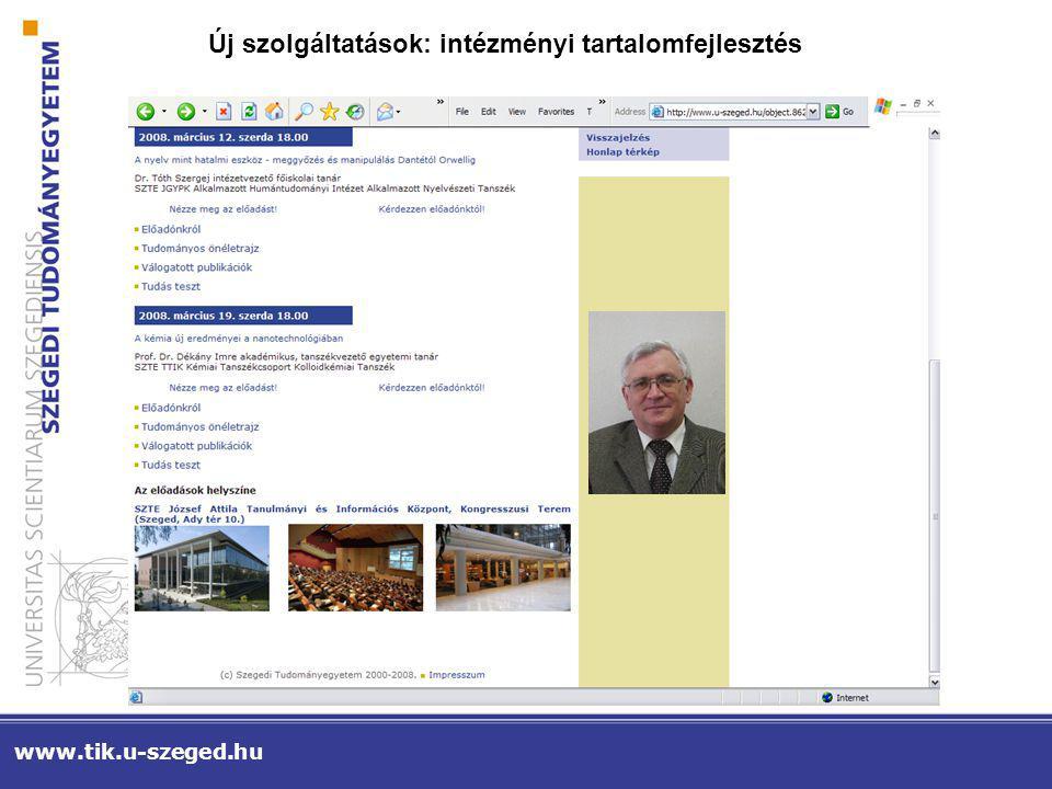 Új szolgáltatások: nyilvános tartalomfejlesztés