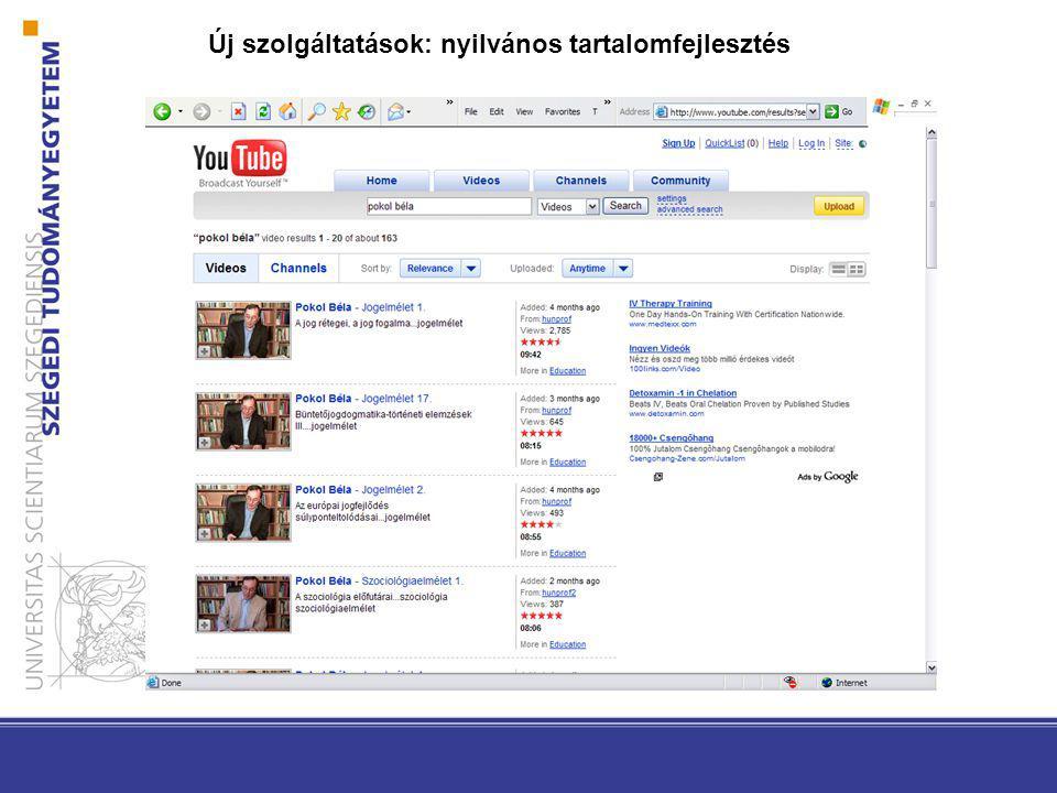 www.tik.u-szeged.hu Fejlesztési lépések 2008-ban Egyetemi adatkonszolidáció Információ menedzsment Tartalom menedzsment TIOP 1.4.1 Egyetemi szintű wifi hozzáférés Szerver és adatkonszolidáció TÁMOP kiírások DPR, VIR, FIR fejlesztések Egyetemi belső intranet portál és egyetemi portál