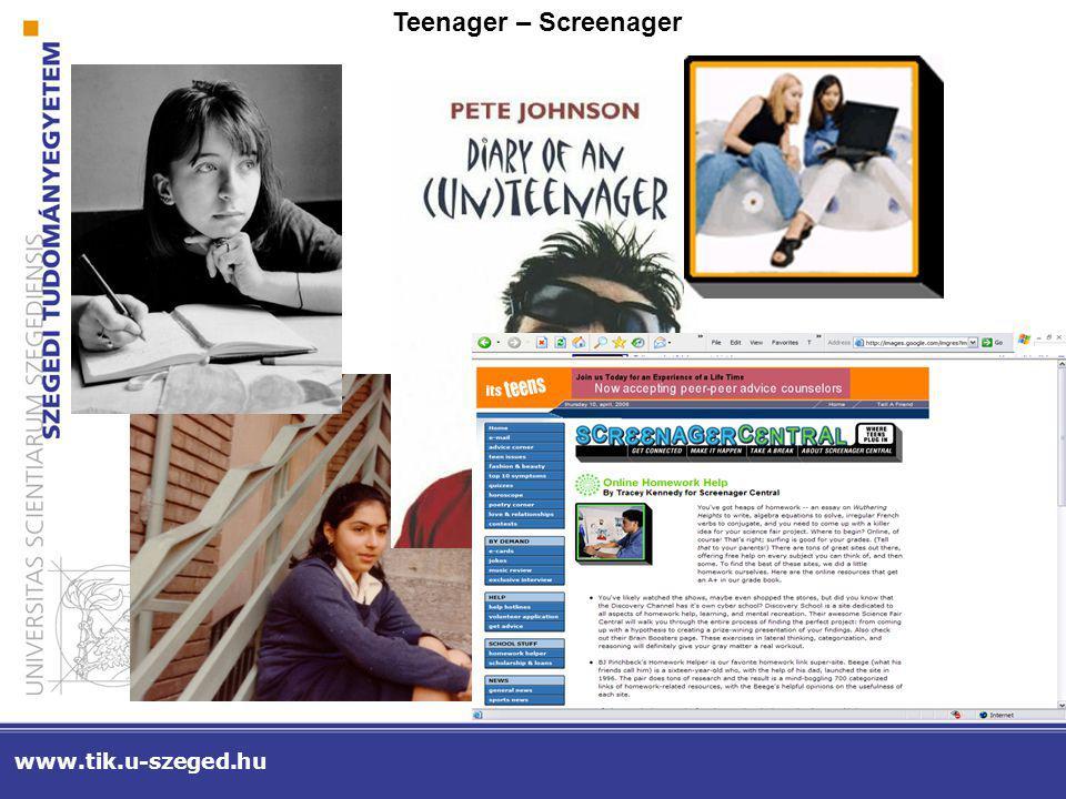 www.tik.u-szeged.hu Környezeti tényezők: webes TOPlisták terjedése