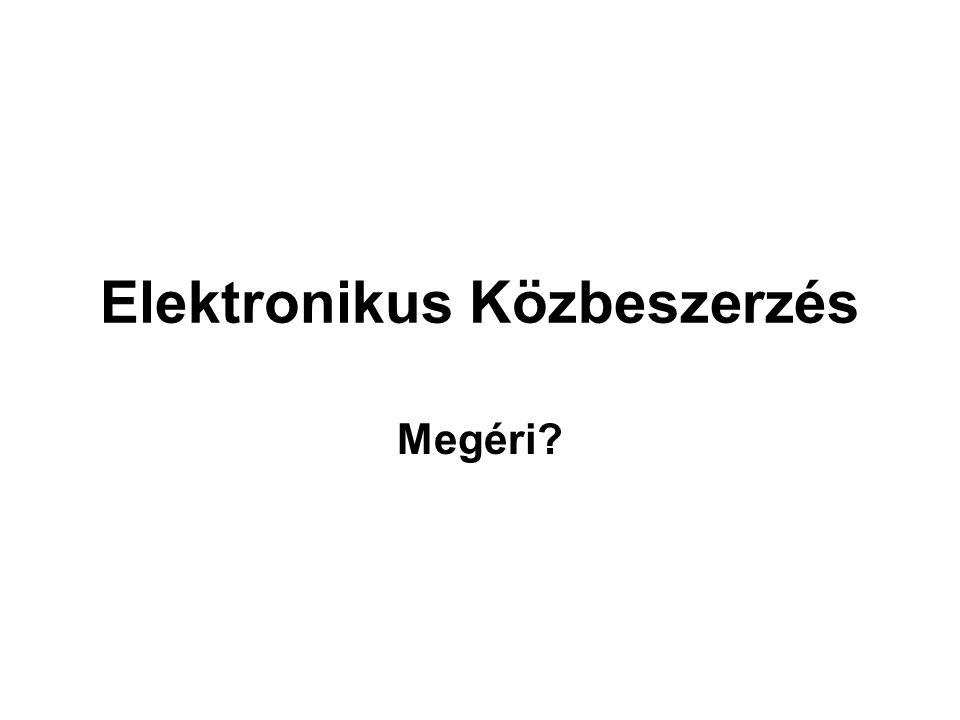Elektronikus Közbeszerzés Megéri